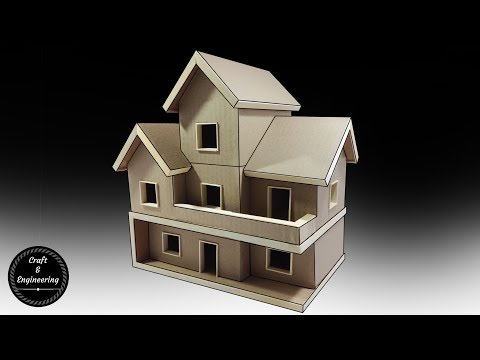 Cardboard and Popsicle stick Mansion/House/Villa