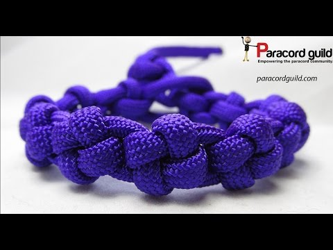 How to make a cross knot paracord bracelet