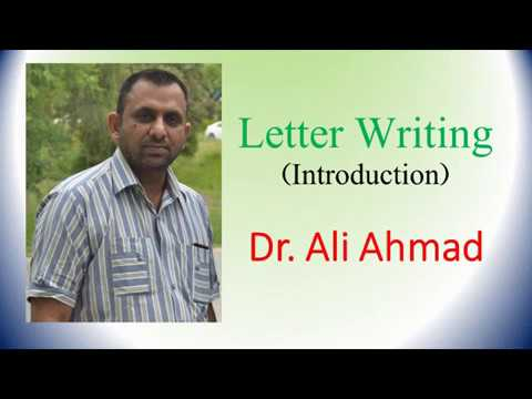 Introduction to Letter Writing in English