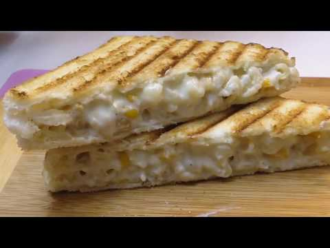 Mac And Cheese Sandwich || Grill Macaroni Sandwich By Cooking Passion
