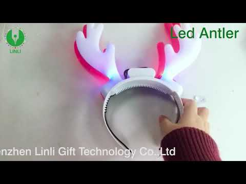 Wholesale and cheap Children's Christmas gift, led moose antlers