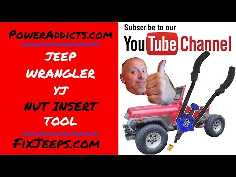 Nut insert Tool demo on a section of frame from a Jeep Wrangler