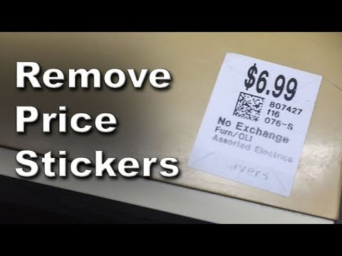 How to Remove Price Stickers From Plastic Safely and Easily