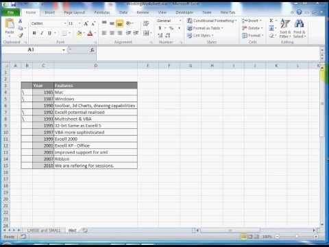 Excel 2010: How To Reduce Size of Excel Sheet