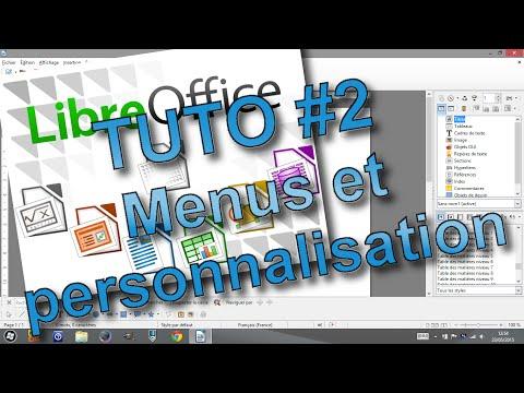 Tutoriel libreOffice #2 (menus et personnalisation)