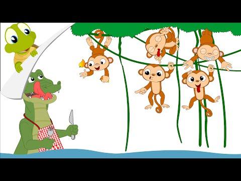 Five Little Monkeys Nursery Rhyme Pakvim Net Hd Vdieos Portal