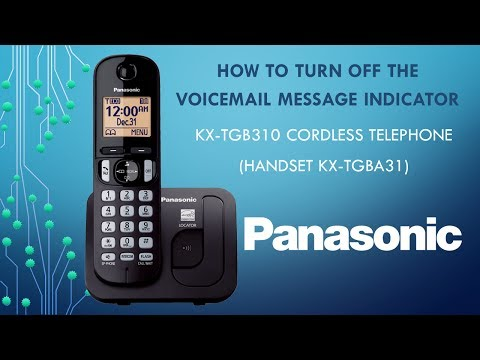 Panasonic KX-TGB310 Telephone - How to turn off the Voicemail message indicator