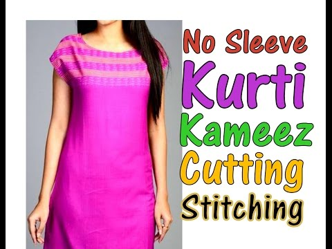 No Sleeve Pattern for All Types of  Kurti || Kameez || Dress || DIY - Simple&Easy Way AWW #285