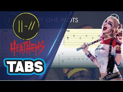 Heathens (Suicide Squad) Twenty One Pilots   Guitar Tutorial TABS   Guitarra Cover