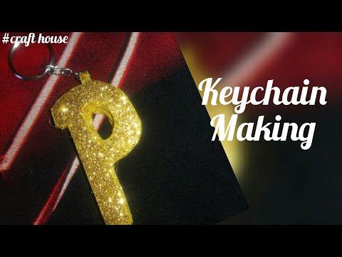Diy/How to make keychain | keyring making | name keychain | keychain craft