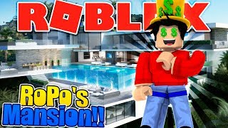 ROBLOX - ROPO BUYS A MANSION WITH ALL HIS YOUTUBE MONEY!!!