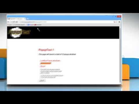 How to disable Google™ Chrome pop up blocker on Windows® 10