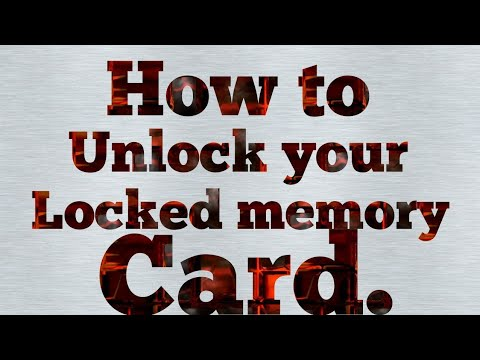 how to unlock memory card password with cmd
