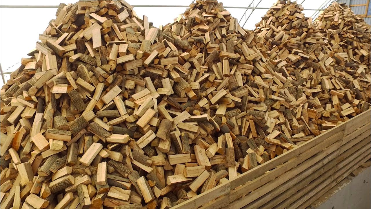 The Firewood Processing Factory / Firewood Production Line / Firewood Processor