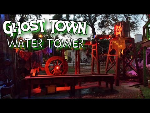 Making A Western Ghost Town Water Tower Filled With Human Skulls