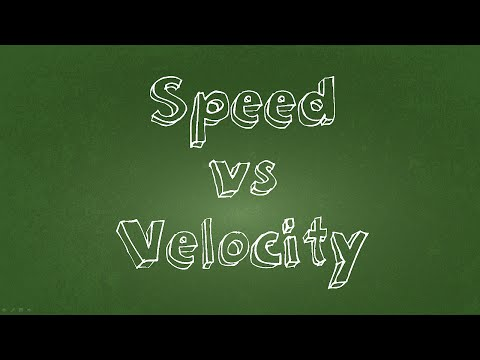 Speed and Velocity Simple Tutorial
