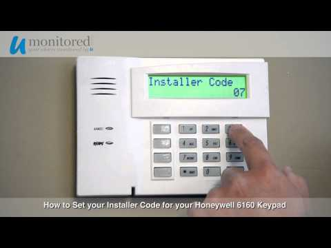 How to Set the Installer Code on your Honeywell 6160 Alarm Keypad