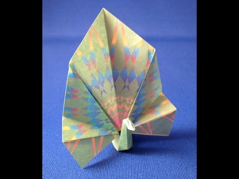 Make Origami Peacock (Peafowl) Bird with Subtitle
