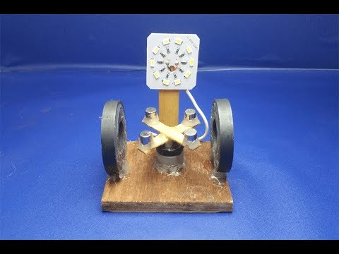 How to Make free energy Generator With Magnet very easy at home