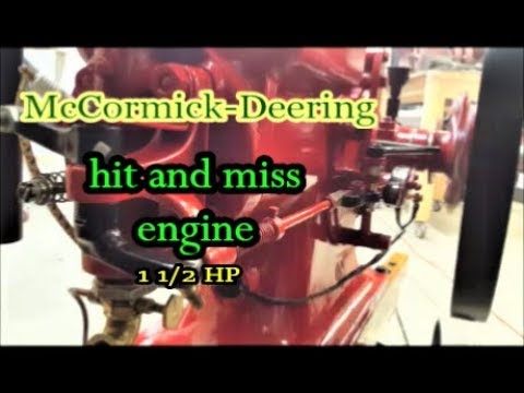 McCormick Deering hit and miss engine 1930