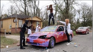 Destroying My Sister Car And Surprising Her With A New One!!