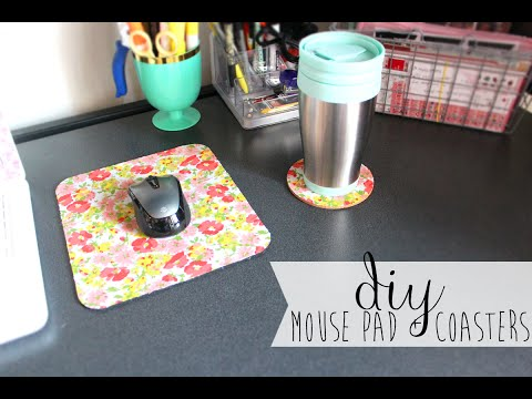 ✿ DIY: Easy Upcycled Mousepad & Coasters ✿