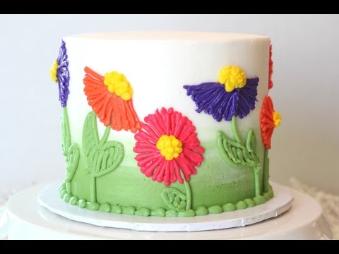 Easy Flower Buttercream Cake
