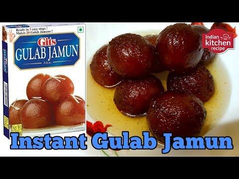 Instant Gits GULAB JAMUN Recipe   Sweet Indian Dumpling Recipe   Simple And Quick    Recipes 2018