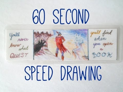 60 Second Speed Drawing of King's Quest V bookmark | eclecticdesigns