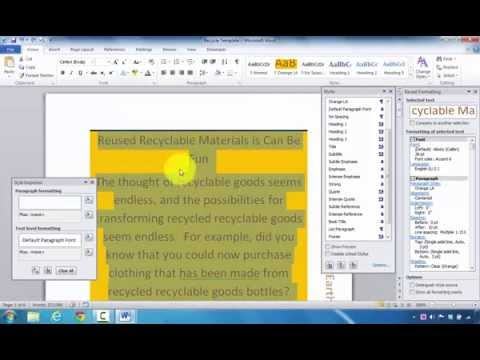 How to Reveal and Clear Styles and Document Formats in Microsoft Word