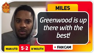 MILES! GREENWOOD MOTM! Manchester United 5-2 Bournemouth Fan Cam
