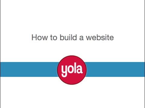 How to Build a Website with Yola