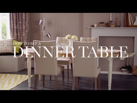 M&S Home: How To Set A Dinner Table