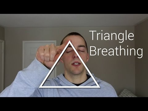 How to Deal with Anxiety with Triangle Breathing