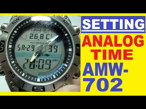 Setting Casio AMW-702 analog time | How to set analog time on Casio AMW-702