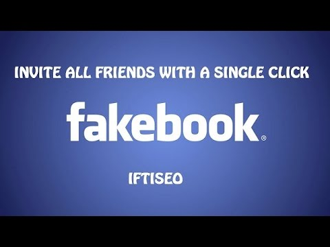 How to Invite All Friends to Like Facebook Page by One Code | 2016-2017