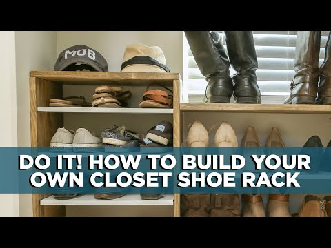 Building a DIY Closet Shoe Rack