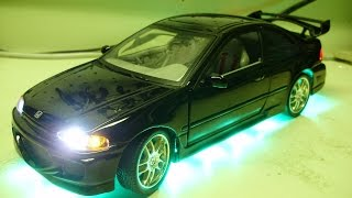Edgar's Custom 1:18 The Fast and the Furious 1995 Honda Civic diecast model w/ working lights