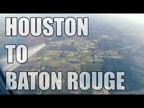 Houston to Baton Rouge - United Airlines Embraer ERJ-135 FULL FLIGHT | GoPro
