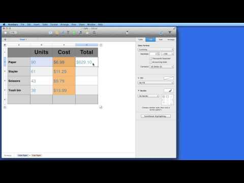 Mac How to: Basic Formulas & Functions in Numbers