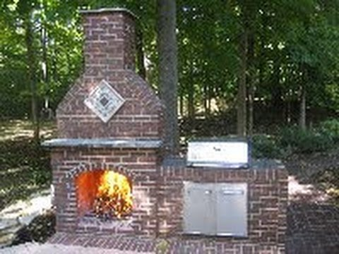 How to Build a Brick Fireplace - DIY - Part 1 of 5