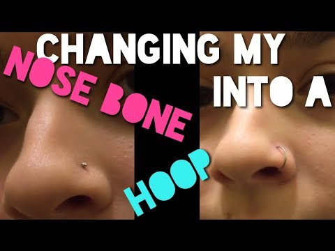 Changing my nose piercing into a hoop!