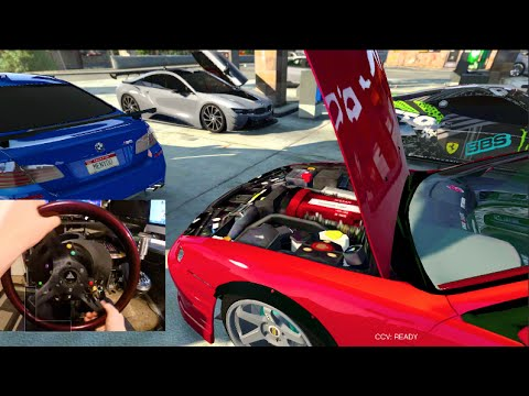 Gta 5 Mods Gopro Freestyle Drifting S14 Bmw I8 Bmw M5 Ferrari 458