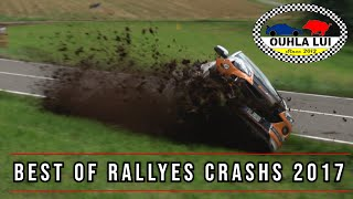 Best of rallyes 2017 100% crashs & mistakes by Ouhla lui