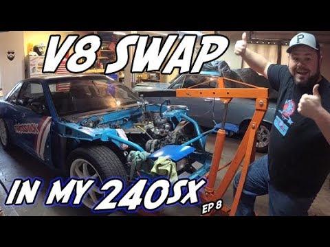 240sx 5.0 V8 Engine Swap   Project 240sx build EP 8