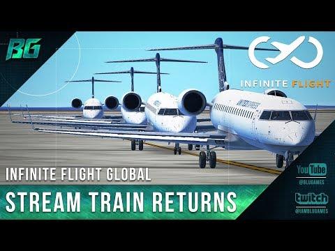 Infinite Flight | Friday Night Flight Stream Train Returns