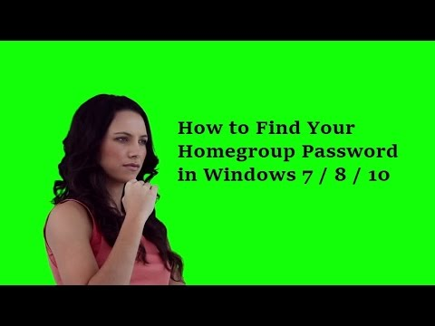 How to Find Your Homegroup Password in Windows 7 windows 8 windows 10
