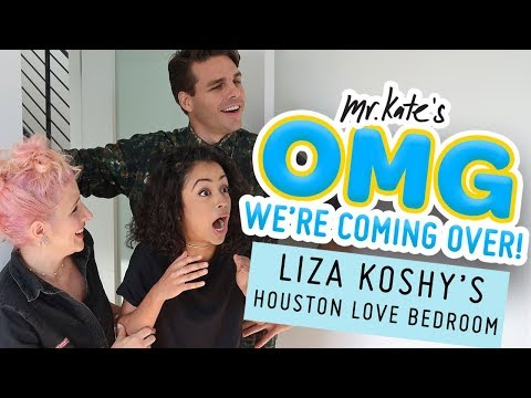 Liza Koshy's Houston Love Bedroom Makeover   OMG We're Coming Over   Mr. Kate