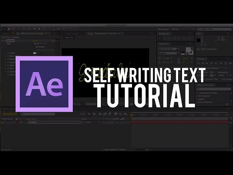 How to Create Self Writing Text in After Effects (TUMBLR)