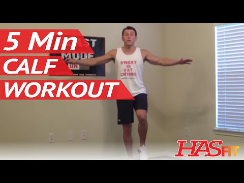 5 Minute Calf Workout at Home - HASfit Calves Exercise - Best Calf Exercises - Calves Workout
